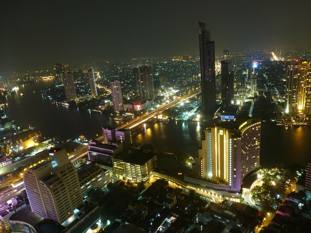 Enjoying Bangkok from up-high